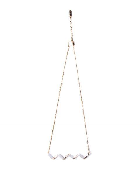 Blue lace agate zigzag necklace1