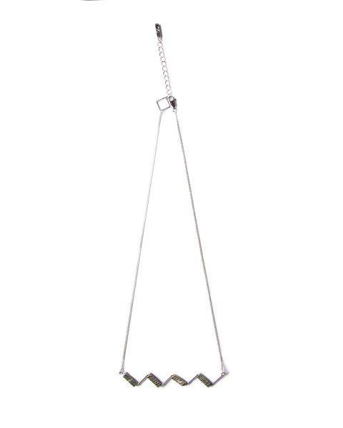 Zebra stone zigzag necklace1